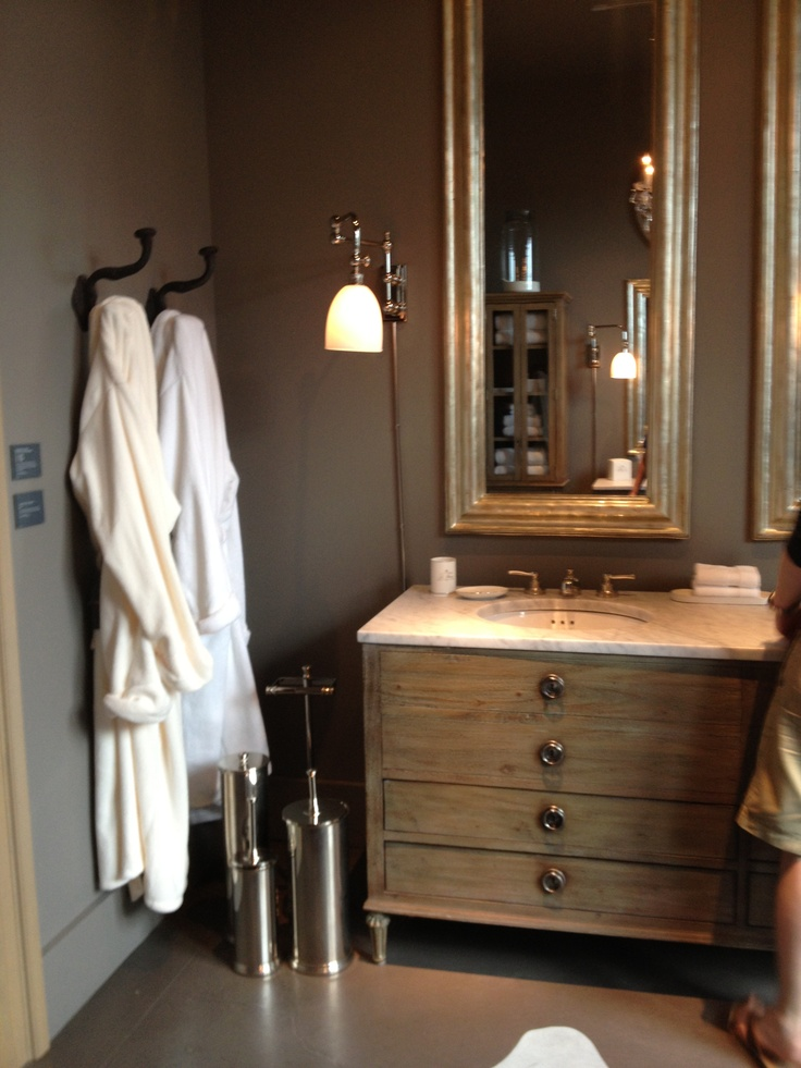 Restoration Hardware Bathroom Bathrooms Pinterest