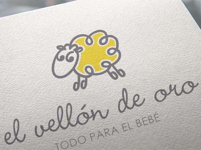 Diseño de Identidad Corporativa para Tienda de Puericultura, El Vellón de Oro, Todo para el Bebé. Castellón. España