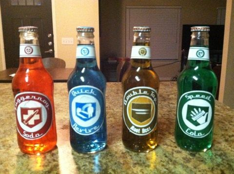 Hey, I found this really awesome Etsy listing at https://www.etsy.com/listing/225164546/perk-a-cola-bottles-black-ops-zombies