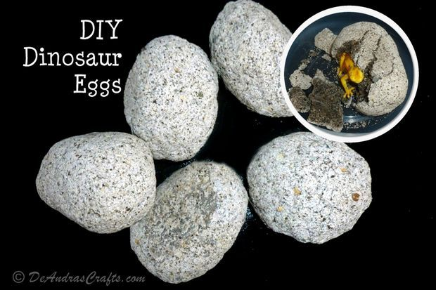 DIY Dinosaur Eggs - Coffee grounds, flour, sand, salt & water. So fun for the kids to open!