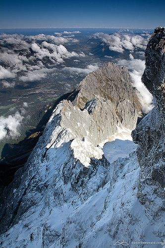 Zugspitze - The Top of Germany. We climbed this, with my dad and others, not all the way to the top. I was 14 at the time.