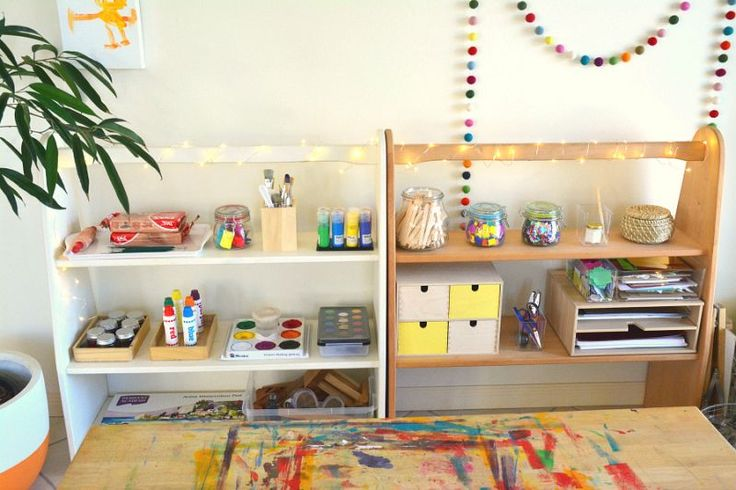 How we Montessori Art Shelves