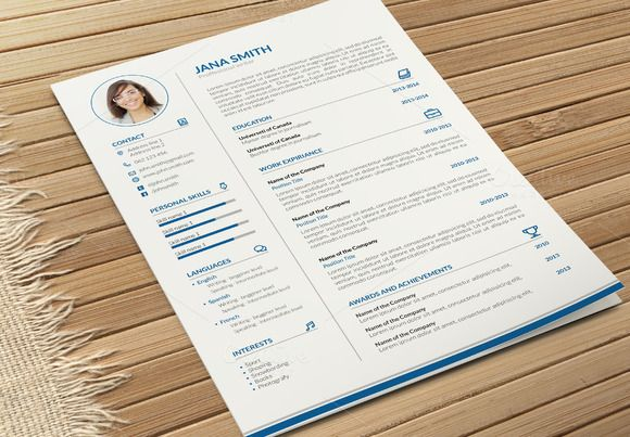 Simple CV-Resume and Cover Letter  by Chere on @creativemarket