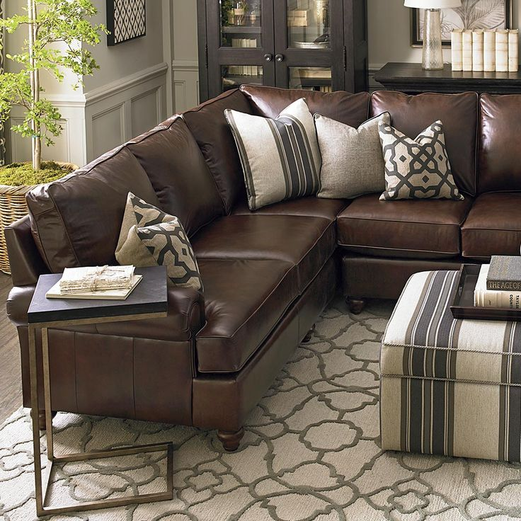 American Casual Montague Large L-Shaped Sectional : living room ideas brown sectional - Sectionals, Sofas & Couches