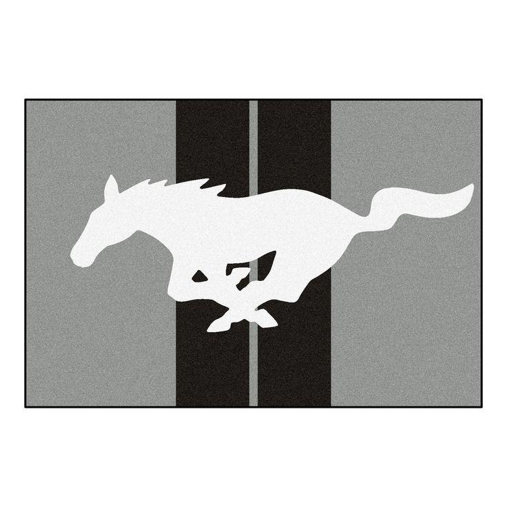 Mustang Horse Rug 5x8 - Gray