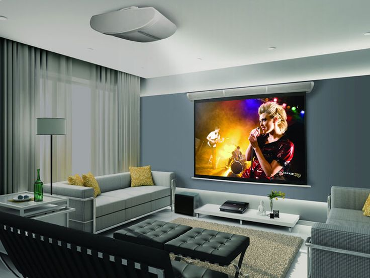 Cinema Room Equipping Your Living Room Study With A Projector And A White Screen A Few Comfy Chairs Or Bean Bags Will Create The Perfect Home Cinema