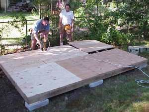 Subfloor for shed- how to build a shed
