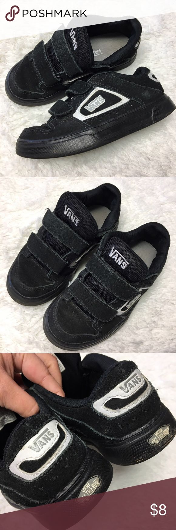 Vans Velcro™ Strap Skate Board Shoes Vans youth boys Size 1.5 Velcro strap black and white skateboard shoes. Good used condition with lots of wear left in them.              💎Price is Firm💎     ⭐️15% Off All Bundles ⭐️     💞💞💞💞💞💞💞💞💞💞 Vans Shoes Sneakers