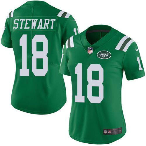 $24.99 Women's Nike New York Jets #18 ArDarius Stewart Limited Green Rush NFL Jersey