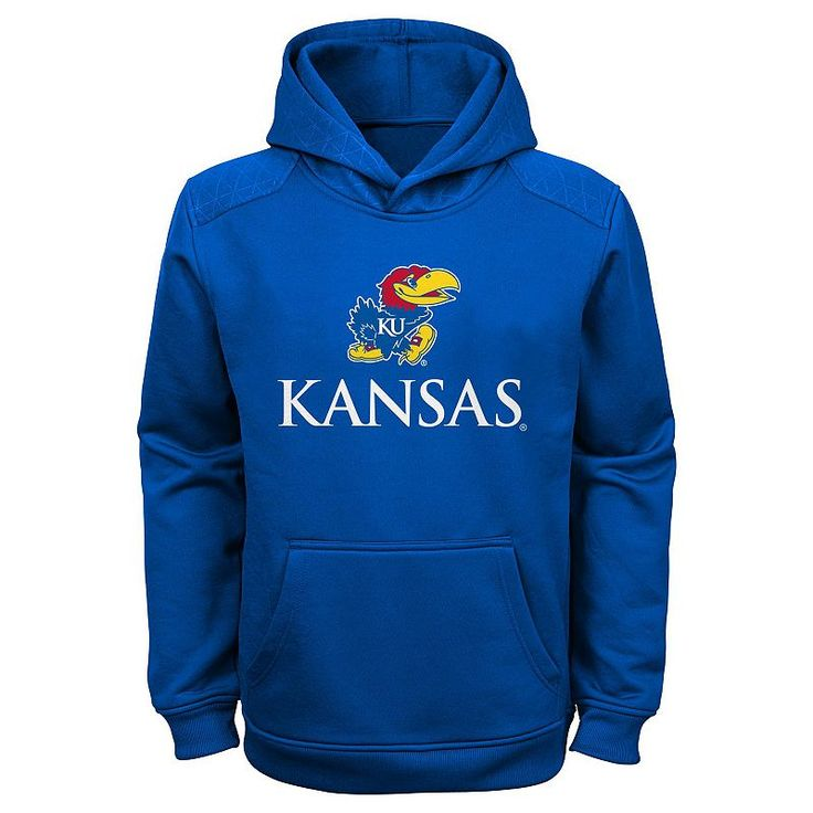 Boys 4-7 Kansas Jayhawks Performance Fleece Hoodie, Boy's, Size: