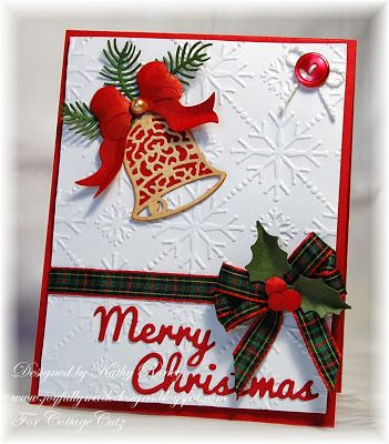 134 best cards christmas die cut cottage cutz images on for Elegant homemade christmas cards