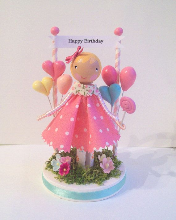 Cake topper: Wooden Dolls, Clothespeg Dolls, Topperclothespin Dolls, Cakes Toppers, Dolls Pregador Boneca, Clothespins Dolls, Happybirthday Cakes, Cakes Topperclothespin, Cake Toppers