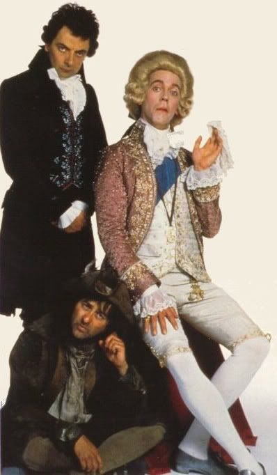 Blackadder starring Rowan Atkinson, Hugh Laurie and Tony Robinson - classic British comedy.