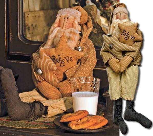 Believe Santa Doll - Kruenpeeper Creek Country Gifts