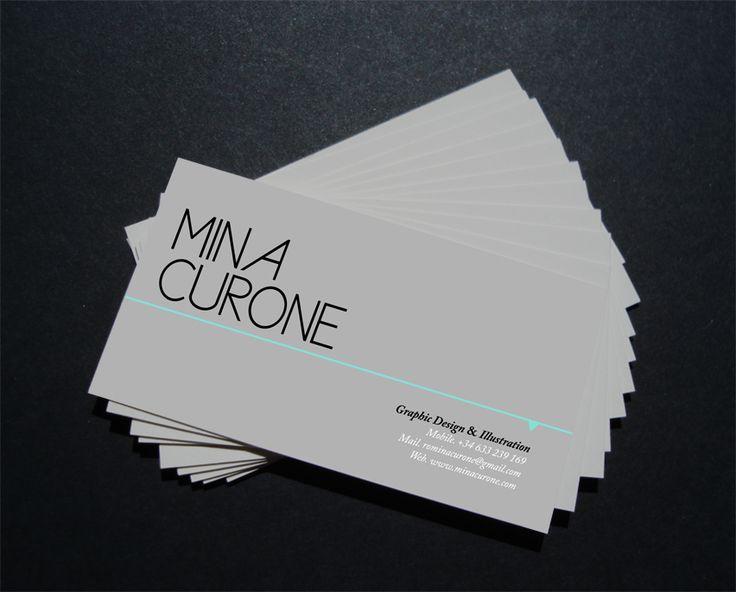 Tarjetas Personales - Mina Curone