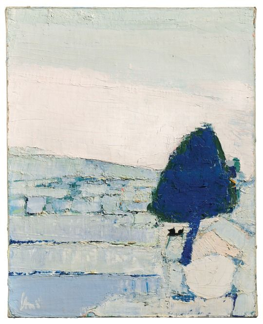 Nicolas de Staël (1914-1955) Paysage de Provence (1953 ) oil on canvas 81 x 65 cm