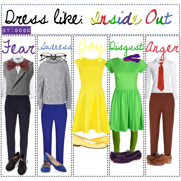 Dress like the characters of Inside Out ~Gogo by the-disney-geeks on Polyvore featuring art and WomanUpTips