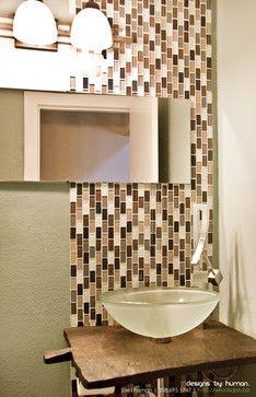 Earth-toned linear tile