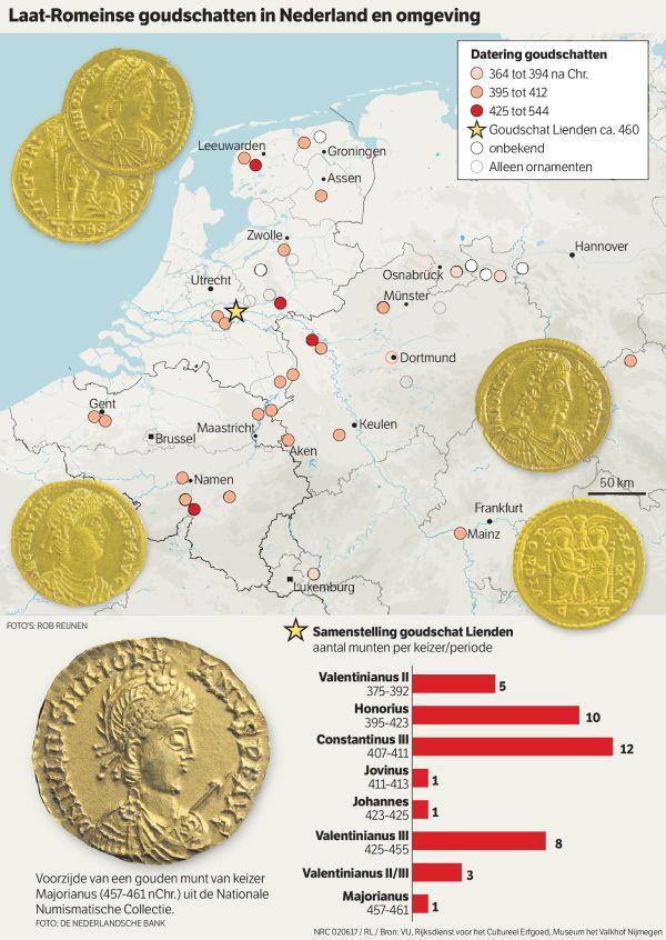 Un tesoro di 41 monete d'oro del Tardo Impero Romano scoperto nei Paesi Bassi   Il Fatto Storico