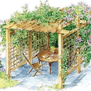 How to Build a Pergola for Backyard Shade - DIY - MOTHER EARTH NEWS... I don't know if we can do it but it would be cool. http://www.motherearthnews.com/diy/how-to-build-a-pergola-zm0z13jjzmar.aspx#axzz2gPPkPUzT