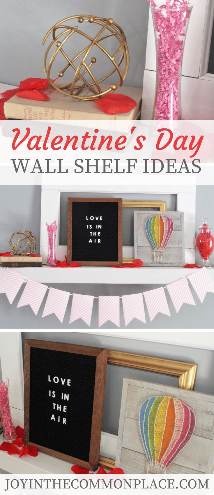 Valentine's Day Wall Shelf Ideas