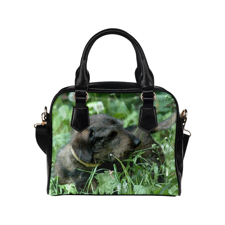 Dachshund Doxie Shoulder Handbag. FREE Shipping. #artsadd #handbags #dogs