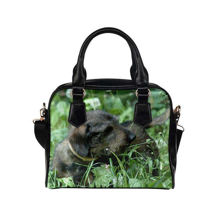 Dachshund Doxie Shoulder Handbag. FREE Shipping. #artsadd #handbags #dogs