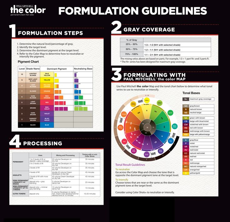 Paul Mitchell the color Formulation Guidelines.