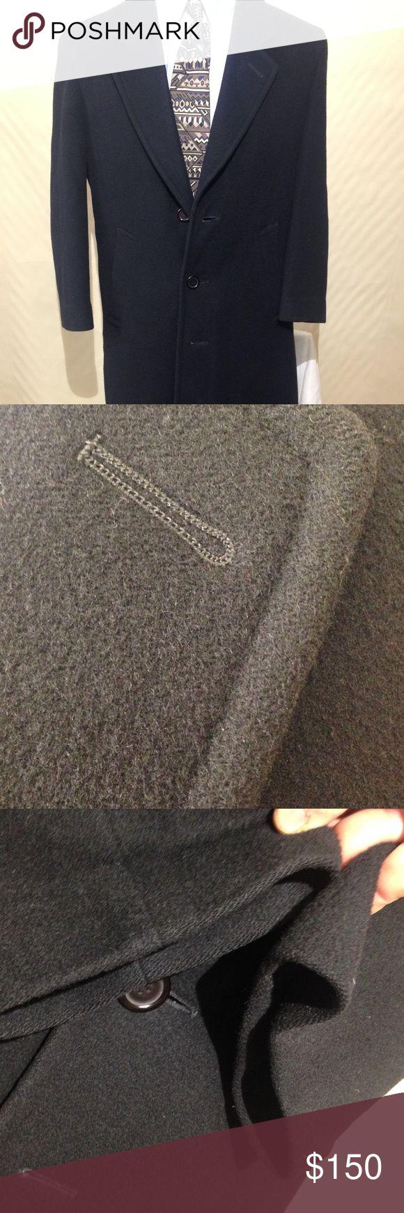 "Nino Cerruti Mens 36S 100% Wool Men's Black Coat Nino Cerruti Mens 36S Pure Wool Men's Black Overcoat-Winter Coat Button Down Size: 36s  Chest: 23""  Shoulders: 20""  Shoulder to Cuff: 22""  Armpit to Cuff: 15""  Length: 47""  Item Number: TC1135 Nino Cerruti Jackets & Coats Trench Coats"
