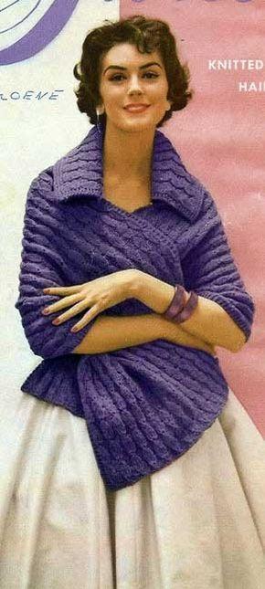 Vintage malha xaile Knitting Pattern PDF Download imediato