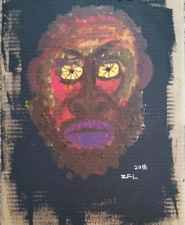 Stefan Burnett A.K.A Ride A.K.A. MC Ride as I Interpreted Him on the Night of October 30th 2017 in Salt Lake City Utah. acrylic on cardboard 12x18 inches