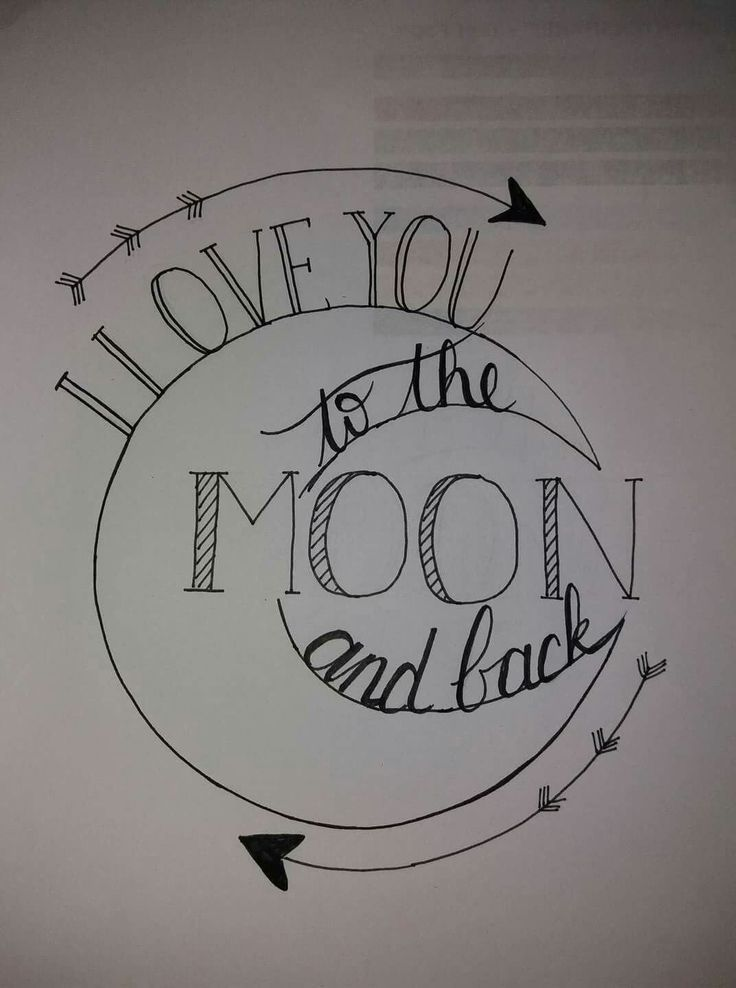 I love you to the moon and back #diytattooimages