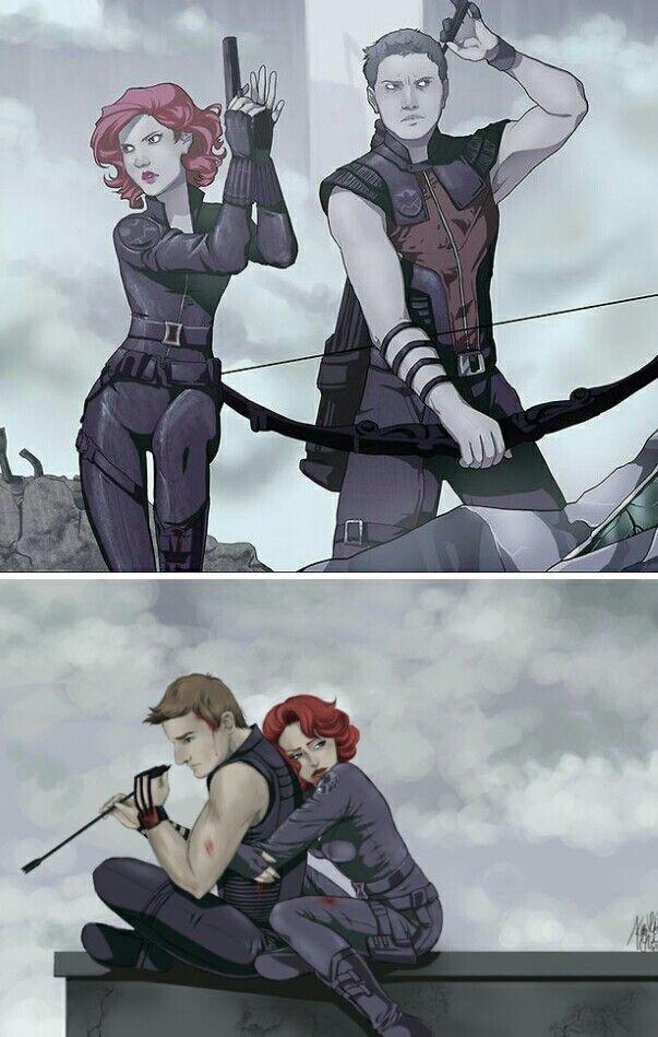 Clintasha Hawkeye and Black Widow