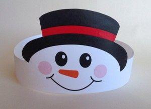 snowman paper crown