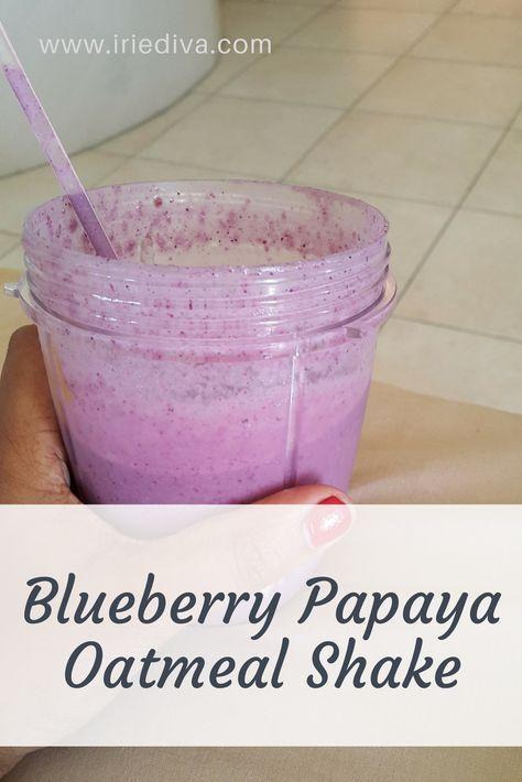 Blueberry Papaya Oatmeal Shake