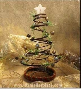 Rusty bed spring Christmas tree