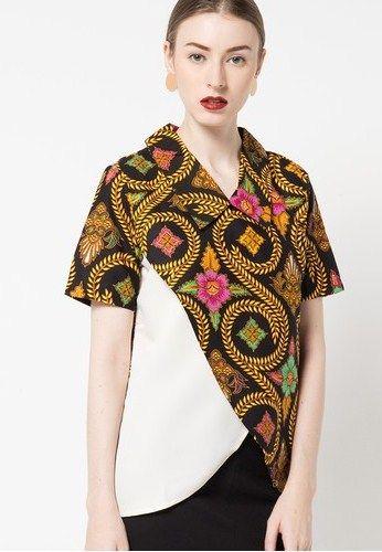 u30c3 42 model baju batik kombinasi kain polos untuk wanita terbaru modis   c0e3b8b318