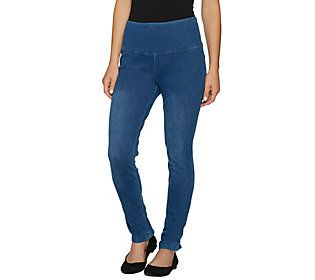 Women with Control Petite Tummy Control Prime Stretch Denim Jeans