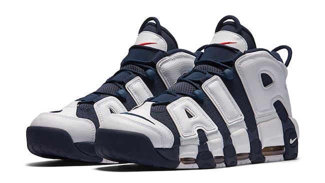 """Nike Air More Uptempo (2016 release) - """"Olympic"""" colorway"""