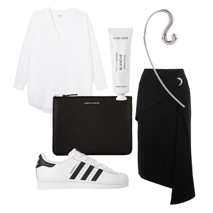 minimalismi, työtyyli, Charlotte Chesnais, Adidas, mustavalkoinen   Lily.fi