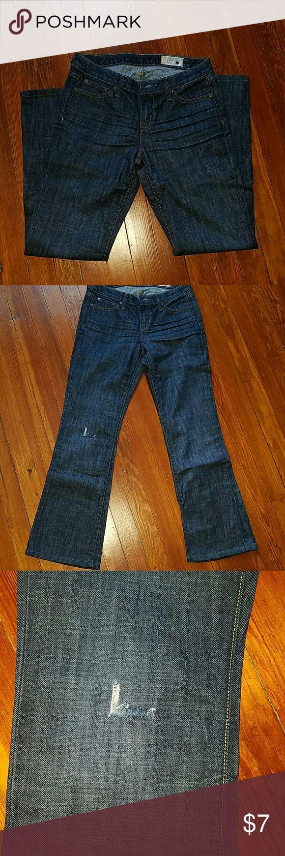 NWOT Gap flare leg jean NWOT Gap flare leg jeans,  rip at right knee GAP Jeans