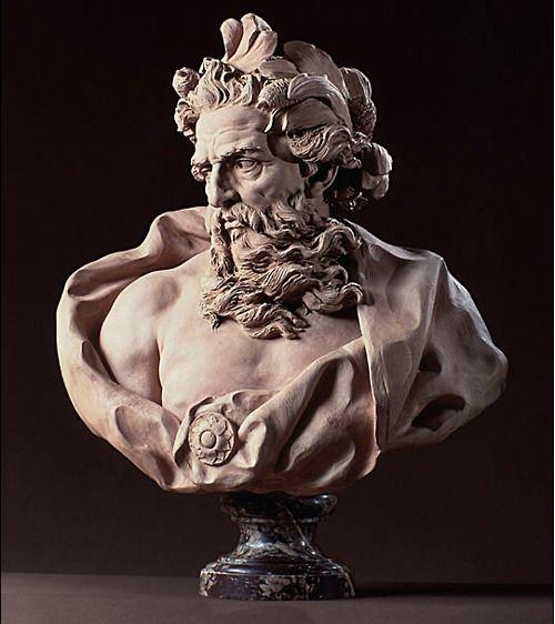 Adam Lambert-Sigisbert (1700-1759)  bust of Neptune