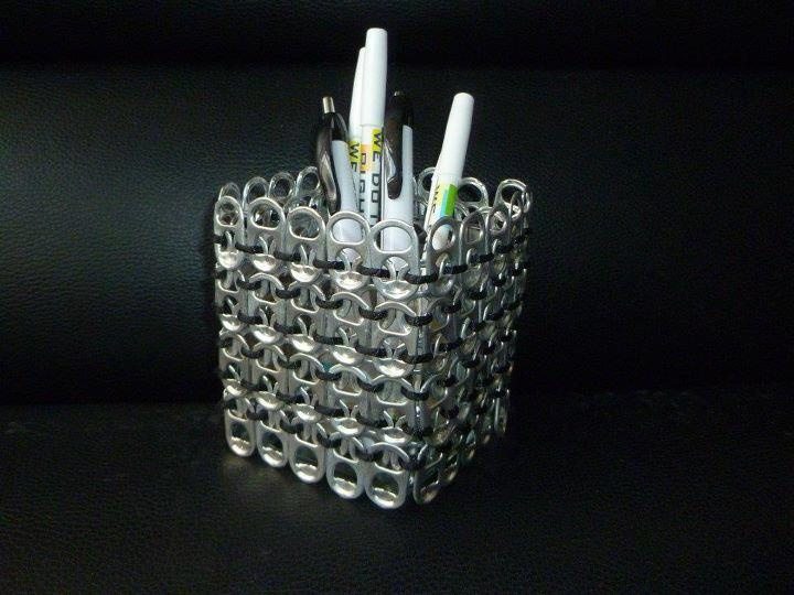 Pop Tab Pencil Holder