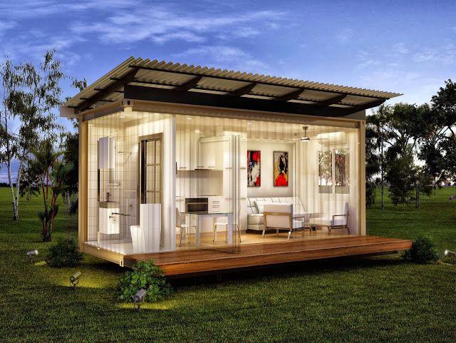 Luxuryr granny flats studio home monaco minimalist living pinterest flats small modular - Container modular homes ...