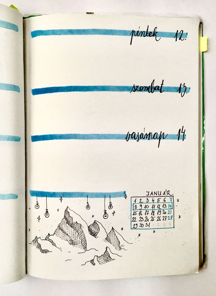 Bullet journal weekly Winter January