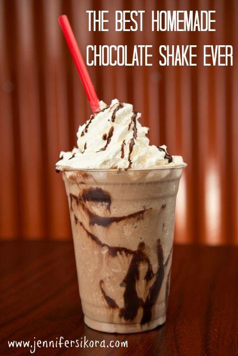 The Best Homemade Chocolate Shake Ever - Jen's Journey