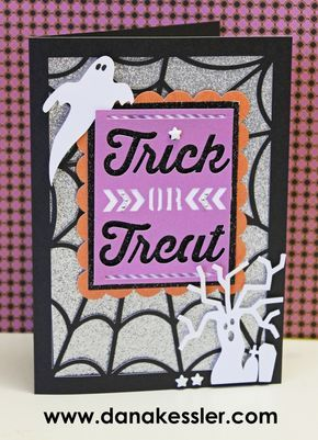 Halloween Card Artfully Sent Ghost Spider #scraptabulousdesigns #ctmh #cricutexplore