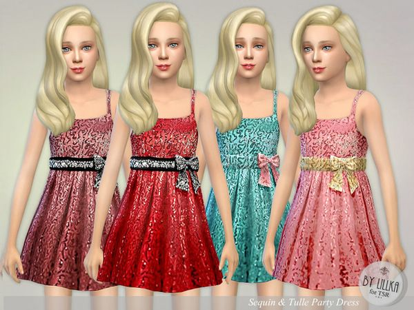 Sims 4 red dress kids