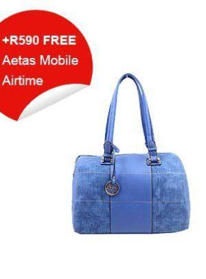 Blue Carry Handbag