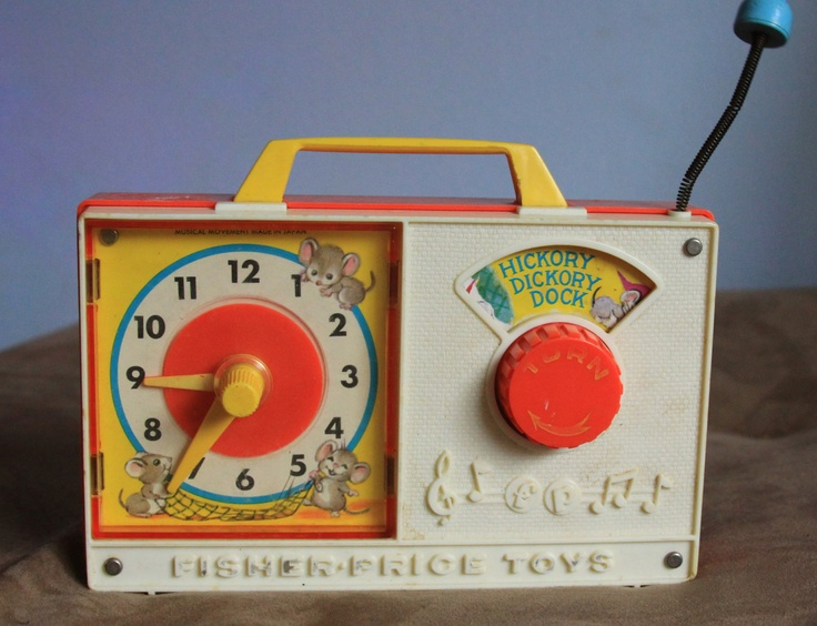 fisher price clock radio 1964